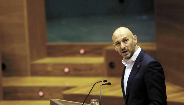 Foto del regionalista Iñaki Iriarte, en una intervención parlamentaria.