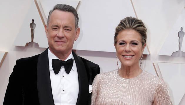 Foto de Tom Hanks y su mujer Rita Wilson.