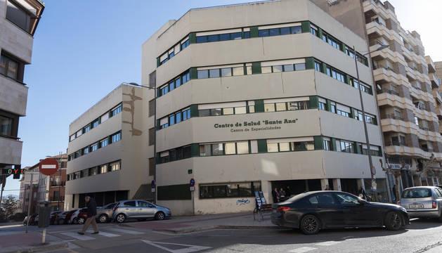 Foto del centro de salud Santa Ana, en Tudela.