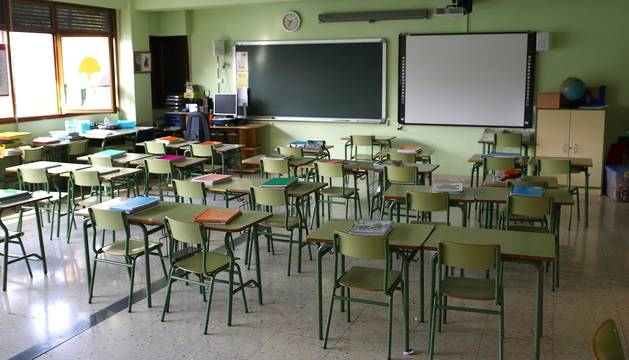 Fotos de los centros educativos en su última jornada lectiva antes del cierre por el coronavirus.