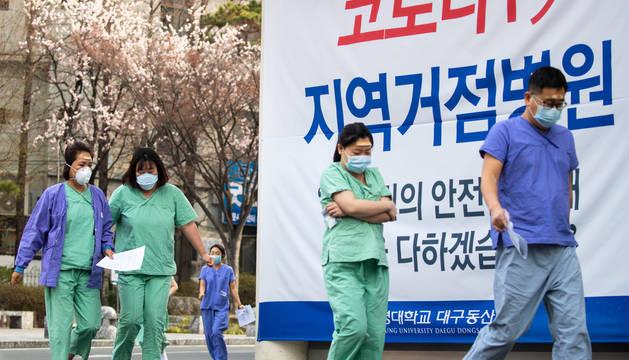 Los contagios se ralentizan en Corea del Sur, donde hay 7.979 casos y 67 muertos