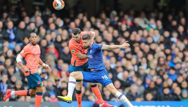 Foto del partido entre el Chelsea y el Everton.