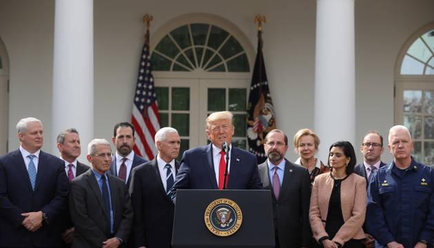 Donald Trump declara una emergencia nacional en EEUU debido al coronavirus.