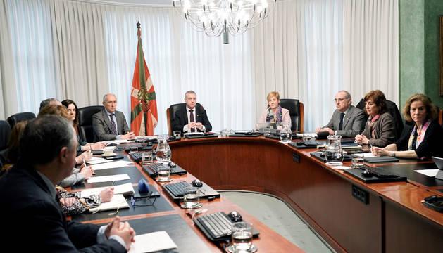 El Gobierno vasco, reunido este viernes.