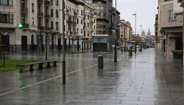 Foto de la avenida Carlos III de Pamplona.