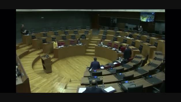VÍDEO | La Mesa y Junta de Portavoces se reúne en el salón de plenos del Parlamento