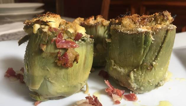 Foto de receta de alcachofas.