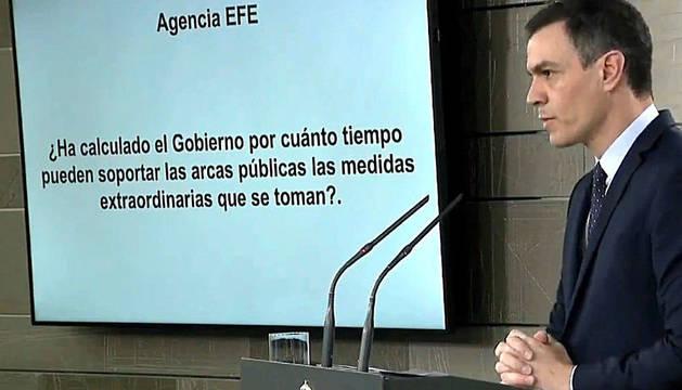 Sánchez, durante la rueda de prensa.