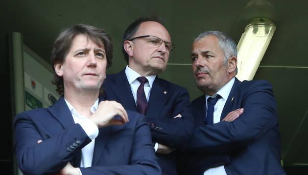 Fran Canal, a la derecha de la imagen junto al gerente Ardanaz, en una imagen anterior.
