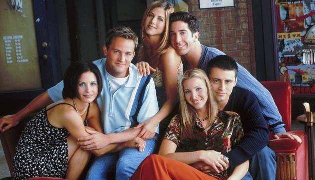 Monica, Chandler, Rachel, Ross, Phoebe y Joey.