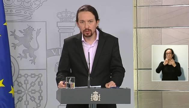 Foto de captura de la señal institucional del Palcio de la Moncloa.