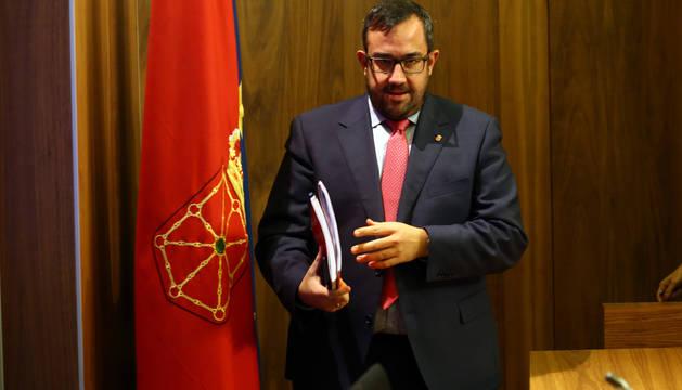 Foto del portavoz del Gobierno de Navarra, Javier Remírez.