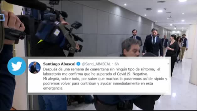 Vídeo: Santiago Abascal supera el coronavirus