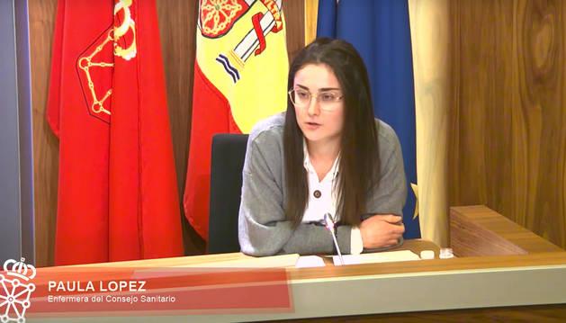 Foto de Paula López, enfermera del Consejo Sanitario de Navarra.