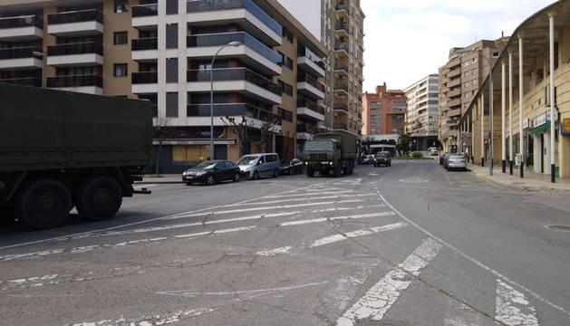 El Ejército, en la calles de Tudela