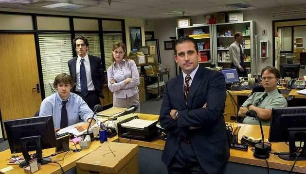 Los protagonistas de la serie The Office.