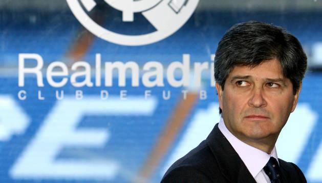 Fernando Martín, en su etapa como presidente del Real Madrid.