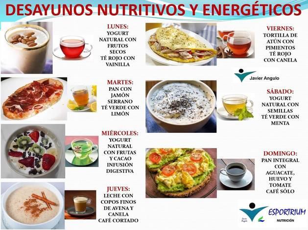 Desayunos nutritivos y energéticos