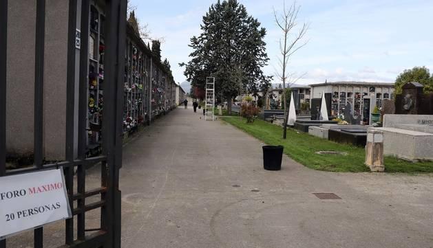 Foto del cementerio de Pamplona.