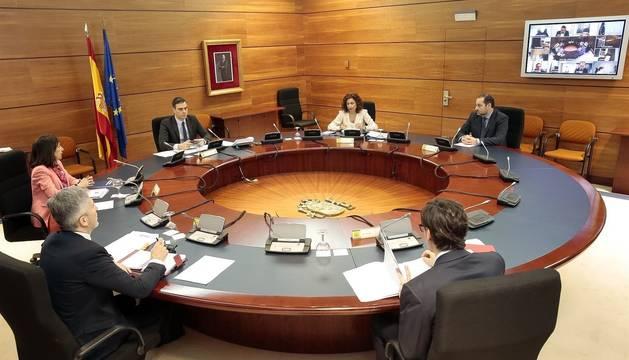 Foto de archivo de un Consejo de Ministros.