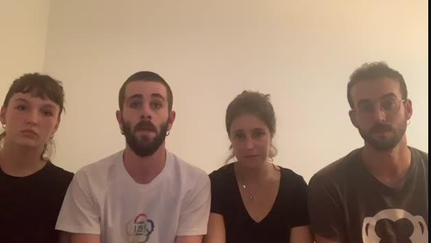 Vídeo de estudiantes atrapados en Buenos Aires por la crisis del coronavirus