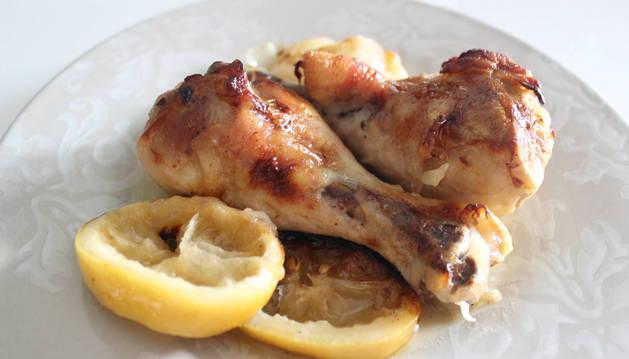 Foto de la receta de pollo al limón.