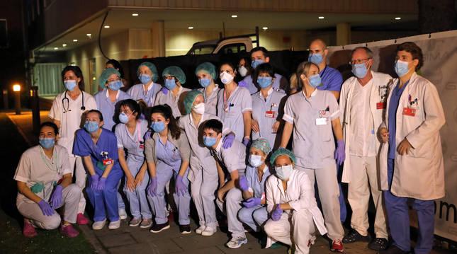 Sanitarios del Complejo Hospitalario agradecían esta semana el apoyo recibido.