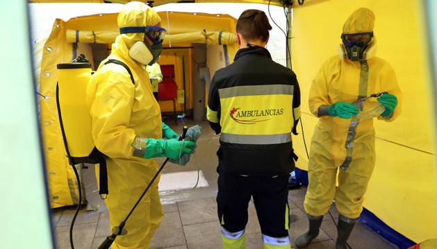 foto de Túnel de desinfección en la zona de Urgencias del Hospital de Navarra (CHN)