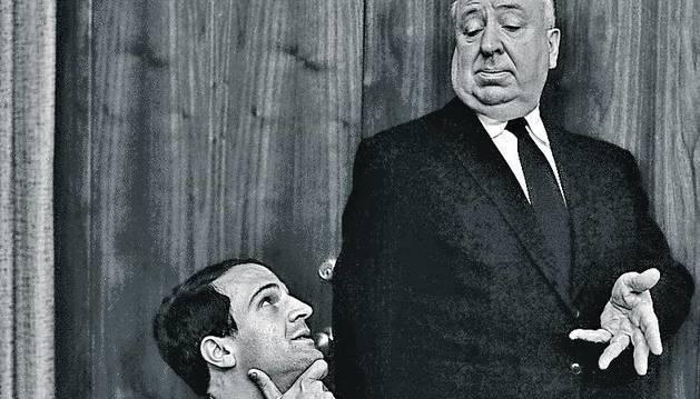 François Truffaut y Alfred Hitchcok.
