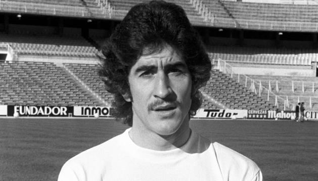 Imagen de diciembre de 1974 del defensa del Real Madrid, Goyo Benito.