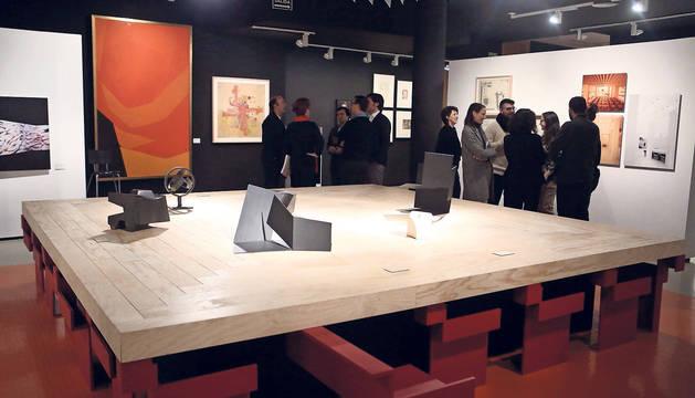 Algunas obras que forman parte de la exposición Sáenz de Oíza. Artes y oficios del Museo ICO de Madrid.