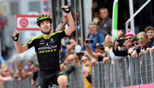 Mikel Nieve, en su última victoria en el Giro de Italia en 2018.