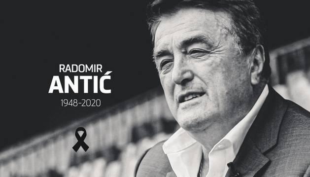 Imagen de  Radomir Antic que ha publicado el Atlético de Madrid en su cuenta de Twitter.