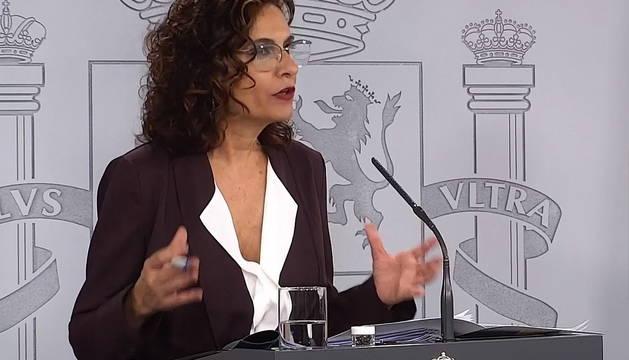 La ministra portavoz del Gobierno, María Jesús Montero.