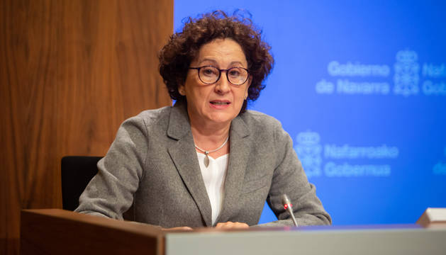 La consejera de Derechos Sociales, Carmen Maeztu.