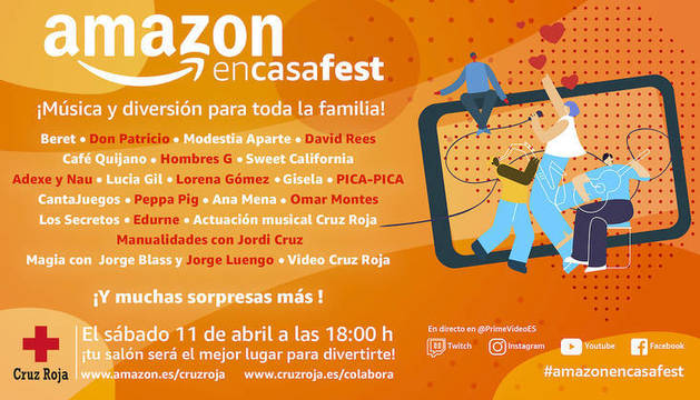 foto de Cartel del  #AmazonEnCasaFest