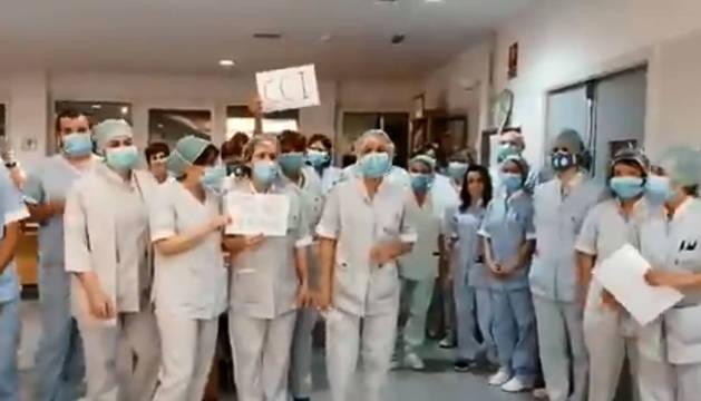 Equipo de CCI, durante el anuncio del cierre de Príncipe de Viana.