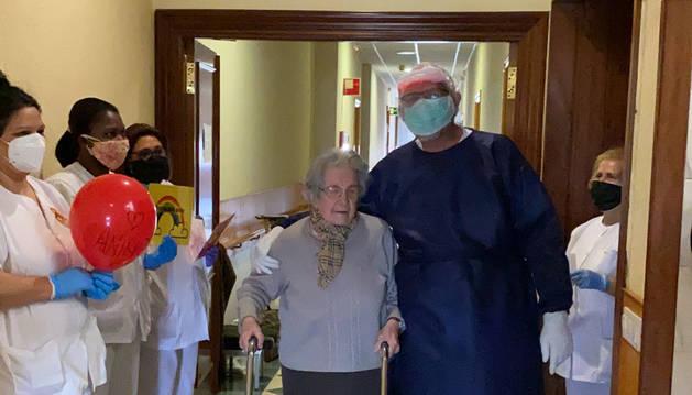 Vencer al virus a los 95 años