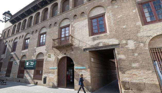 Fachada del palacio del Marqués de San Adrián, sede de la UNED en Tudela.