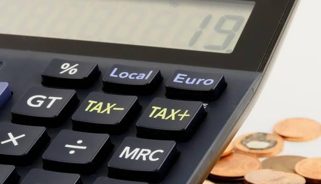 Foto de recurso de una calculadora.