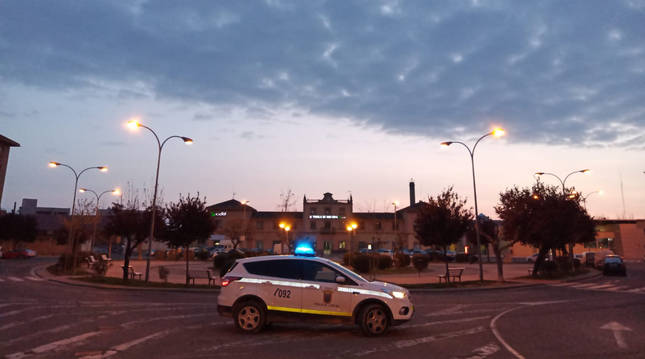 Foto de un vehículo de Policía Municipal de Tudela.
