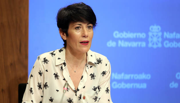 La consejera navarra de Economía y Hacienda, Elma Saiz.