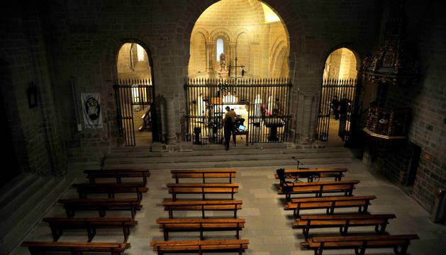 El santuario acogió la misa y fue retransmitida por el canal de youtube de la parroquia de Tafalla.