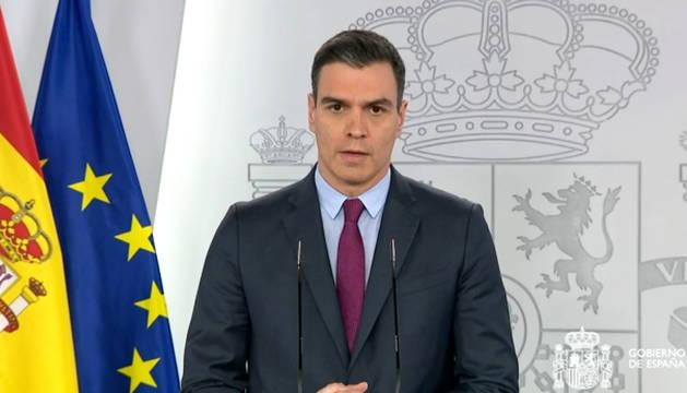 Comparecencia del presidente del Gobierno, Pedro Sänchez, para anunciar los pasos para la desescalada.