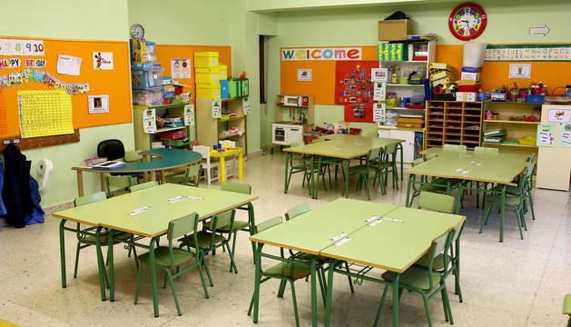 Foto de un aula del colegio público Ermitagaña.