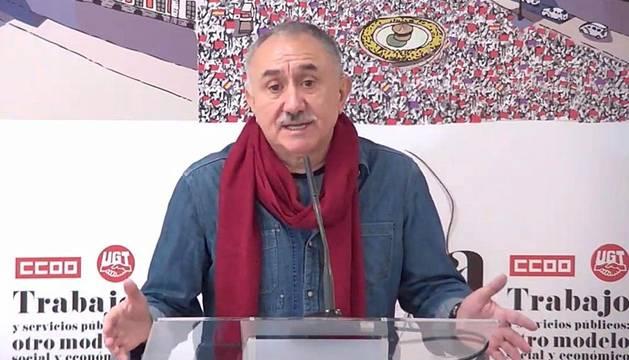 Rueda de prensa del secretario general de UGT, Pepe Álvarez