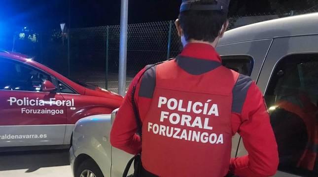 Policía foral denuncia por exceso de velocidad el 6% de los vehículos controlados