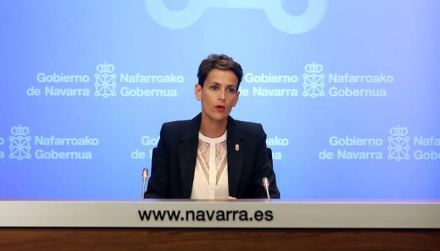 La presidenta María Chivite.