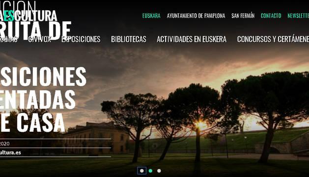 Página principal de pamplonaescultura.es