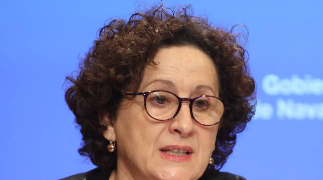 foto de La consejera de Derechos Sociales, María Carmen Maeztu, en la rueda de prensa